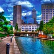 Downtown Indianapolis Canal Art Print