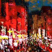 Downtown Lights Art Print