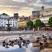 Downtown Lisbon Print by Carlos Caetano