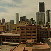 Downtown Los Angeles Panorama Art Print