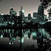 Downtown Minneapolis At Night II Art Print