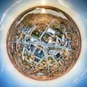 Downtown Mukwonago Little Planet Art Print