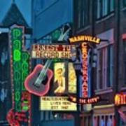 Downtown Nashville At Dusk Art Print