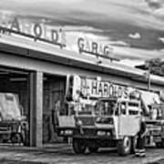Downtown Northampton - Harold's Garage Art Print by HD Connelly