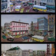 Downtown Portsmouth 1948 Art Print