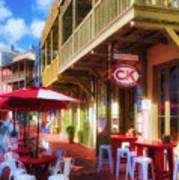 Downtown Rosemary Beach Florida # 2 Art Print