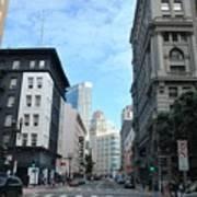 Downtown San Francisco Street Level Art Print