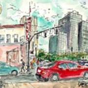 Downtown Tyler, Corner Of Broadway And Erwin May 2018 Art Print