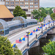 Downtown Waterloo Iowa Bridge Art Print