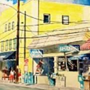 Downtown Wrightsville Beach Art Print