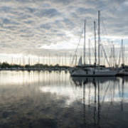 Downy Soft Clouds At The Marina Art Print
