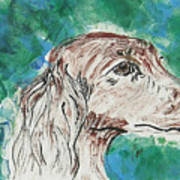 Doxie Blues Art Print