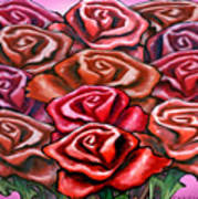 Dozen Roses Art Print