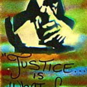 Dr. Cornel West Justice Print by Tony B Conscious