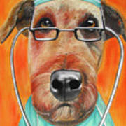Dr. Dog Art Print by Michelle Hayden-Marsan