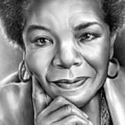 Dr Maya Angelou Art Print