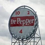 Dr. Pepper Sign - Roanoke Virginia Art Print