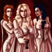 Dracula's Brides Art Print