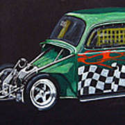 Drag Racing Vw Art Print