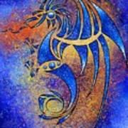 Dragissous V1 - Blue Dragon Art Print
