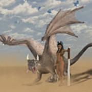Dragon And Master Art Print