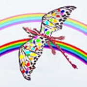 Dragon And Rainbow Art Print