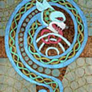 Dragon And The Circles Art Print
