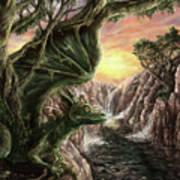 Dragon Branches Art Print