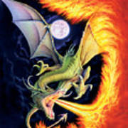 Dragon Fire Art Print