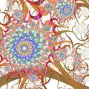 Dragon Flowers. Art Print