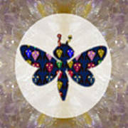 Dragon Fly Cute Painted Face Cartons All Over Donwload Option Link Below Personl N Commercial Uses Art Print