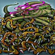 Dragon In Thorns Art Print