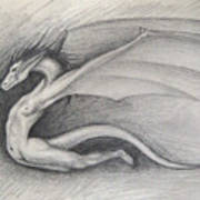 Dragon Man Art Print