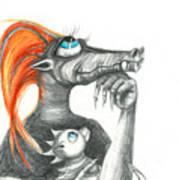Dragon Mom Art Print