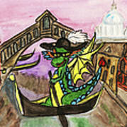 Dragon New Year Comes To Venice Art Print