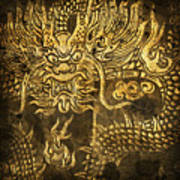 Dragon Pattern Art Print by Setsiri Silapasuwanchai
