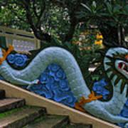 Bao Tang Temple Railing In Ho Chi Minh City Art Print