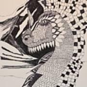 Dragon - Zentangle 16-04 Art Print