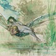 Dragonfly Art Print by Gustave Moreau
