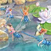 Dragonfly Races Art Print