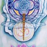 Dragonfly Spirit Art Print by Diana Shively