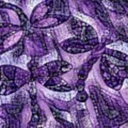 Dragons In Lavender Mosaic Art Print