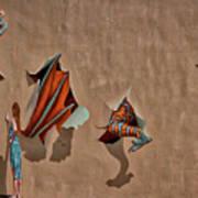 Dragons In The Railyard - Santa Fe #2 Art Print