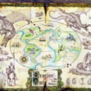 Dragons Of The World Art Print