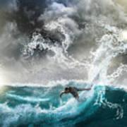 Dragon's Soul Surfer Art Print