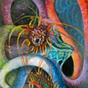 Dragons Three Art Print