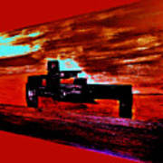 Dragster At The Strip Art Print