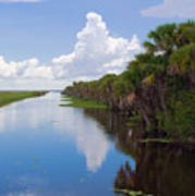 Drainage Canals Make Farming Possible In Florida Art Print