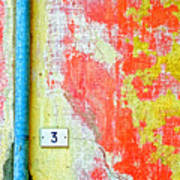 Drainpipe Amazing Wall And Number Three Art Print