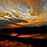 Drama In The Sky At The Sunset Hour Art Print
